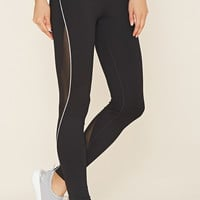 Active Mesh-Paneled Leggings | Forever 21 - 2000160572