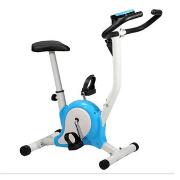 Home Gym Portable Upright Stationary Belt Exercise Fitness Bike Cycle Bicycle Blue