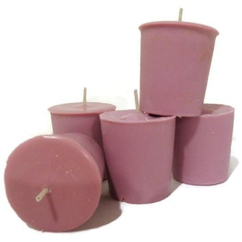 Premium Pomegranate soy votive candles, custom made pomegranate candles