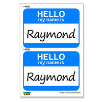 Raymond Hello My Name Is - Sheet of 2 Stickers