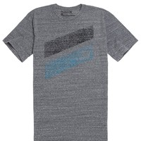 Hurley Icon Slash Push Thru T-Shirt - Mens Tee - Grey