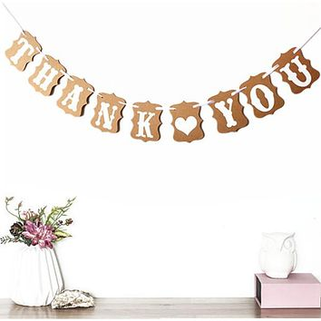 Christmas Thanksgiving Decoration Garland Retro Thank You Wedding Party Welcome Decoration Banner