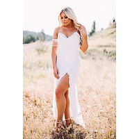 Take A Vow Lace Dress (White)
