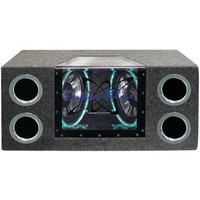 Pyramid BNPS102 Car Subwoofer System Dual Bandpass 10 1000W W/Neon Lights