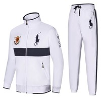 Polo Ralph Lauren new embroidered medal logo men's outdoor sportswear two-piece White