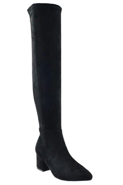 Image of Chloe Boots (Black Suede)
