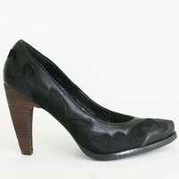 Pony Hair Leather Cowgirl Stilettos