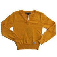 Silvian Heach Junior - Boy V-neck McKay Sweater, Mustard