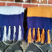 HUGE Ravenclaw house scarf, very long, very thick tube scarf, just like the movies.