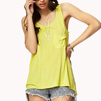 FOREVER 21 Draped Back High-Low Tank