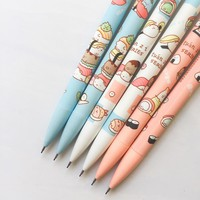 H13 3X Cute Kawaii Sushi Rice Press Automatic Mechanical Pencil Writing Drawing School Office Supply Student Stationery 0.5mm