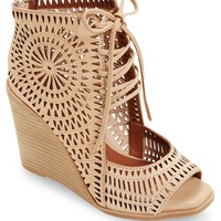 Jeffrey Campbell Rayos Perforated Wedge Sandal (Women) | Nordstrom