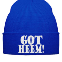got heem embroidery hat - Beanie Cuffed Knit Cap