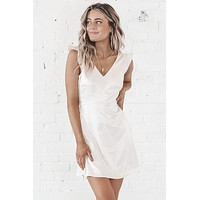 Undercover Satin Cream Dress