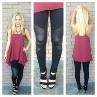 Leather Fleece Leggings