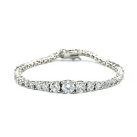 Jenna Round CZ Tennis Bracelet  – 7.25in | 13ct