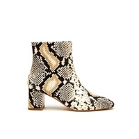 Cocoa Snakeskin Animal Print Ankle Boot by Matisse