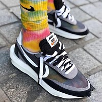 Sacai X Nike LVD WAFFLE Trending Men Women Sport Running Shoes Snekers Black
