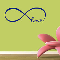 Infinite Love Wall Decal - Home Decor - Living Room - Bedroom - Gift Idea - Nursery - Kids Room - High Quality Vinyl Graphic