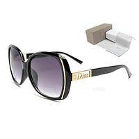 DIOR Trending Women Men Casual Summer Sun Shades Eyeglasses Glasses Sunglasses Frame Hollow Black I-MYJ-YF