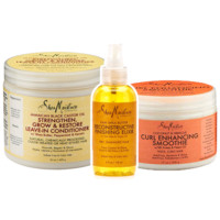 """""""LOC"""" with Shea - Curl Stretching Moisture Bundle With 100% Pure Flaxseed Oil"""