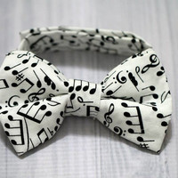 Music Note Bow tie wedding, baby and toddler Boy photo prop, church, birthday, easter or everyday.