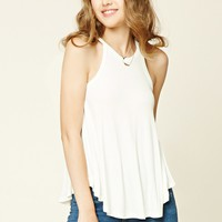 Ribbed Knit Cutout Top