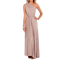 Sue&Joe Women's Bridesmaid Prom Gown Empire Waist Formal Evening Maxi Dresses