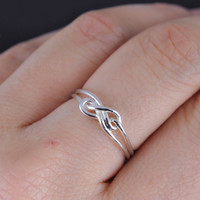 infinity ring, infinity knot ring, best friend ring, promise ring,personalized ring, friendship ring, sisters ring