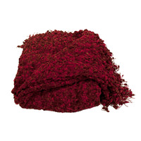 Betsy Cherry Boucle Throw