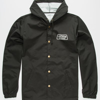 Captain Fin The Dish Mens Coach Jacket Black  In Sizes
