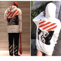 DCCK Off White X  Marilyn Monroe Hooded Unisex Hoodie