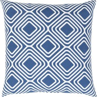 Miranda Throw Pillow Blue, Neutral
