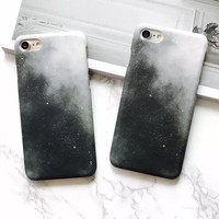 Black Galaxy Case for iPhone 7 7Plus & iPhone se 5s 6 6 Plus Best Protection Cover-0323
