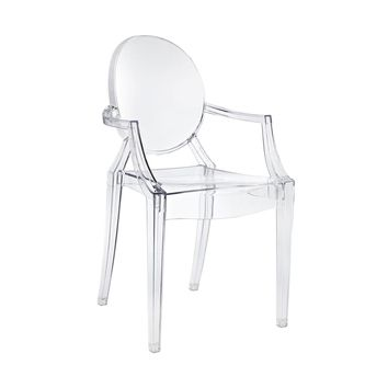 Sophia Ghost Arm Chair, Clear