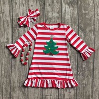 Christmas Tree Boutique outfit with accessories