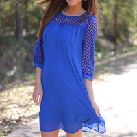 On Top Of It All Dress, Royal