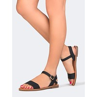 Low Ankle Strap Sandal