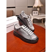 Alexander Mcqueen  Men Fashion Boots fashionable Casual leather Breathable Sneakers Running Shoes0412gh