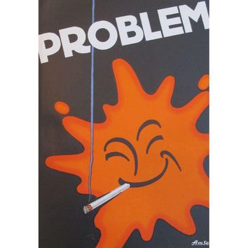 Pre-owned Original German 1927 Lithographic Problem Poster