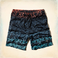 Hollister Printed Athletic Shorts