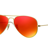 Look who's looking at this new Ray-Ban Aviator Flash Lenses