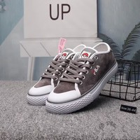 """""""Fila"""" Unisex Casual Retro Pig Leather Plate Shoes Couple Sneakers"""