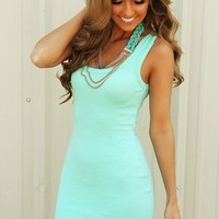 Keep It Basic Dress: Mint - Dresses - Hope's Boutique