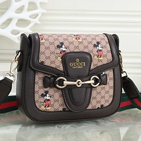 Gucci Fashion Double GG Wave Camera Bag Single Shoulder Slant Bag Chain Bag