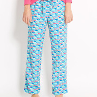 Pattern Whale Lazy Pants