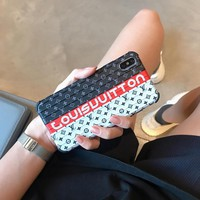 LV x Suitcase Style Protective Phone Case - White