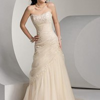 Empire Strapless Sleeveless Chapel train wedding dress for brides 2011 style(WED7047) (Free Shipping) US$155.29 : Tidebuy.com