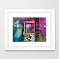 HIDDEN BEAUTY - Composing with woman and antique torso Framed Art Print by 📷 VIAINA   Society6