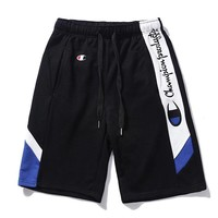 Champion summer new color matching casual pants men's sports shorts five pants F0565-1